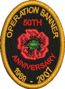 Poppy Operation Banner 50 Embroidered Badge